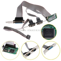Mini PCI E 2 Serial Ports 1 Parallel I O Card Mini PCIe To RS232 DB9