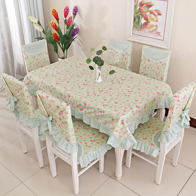 Dinner Table And Chair Cloth Green Pink Girls Chair Cushion Chair Seat  Cover Set Brief Kitchenwear