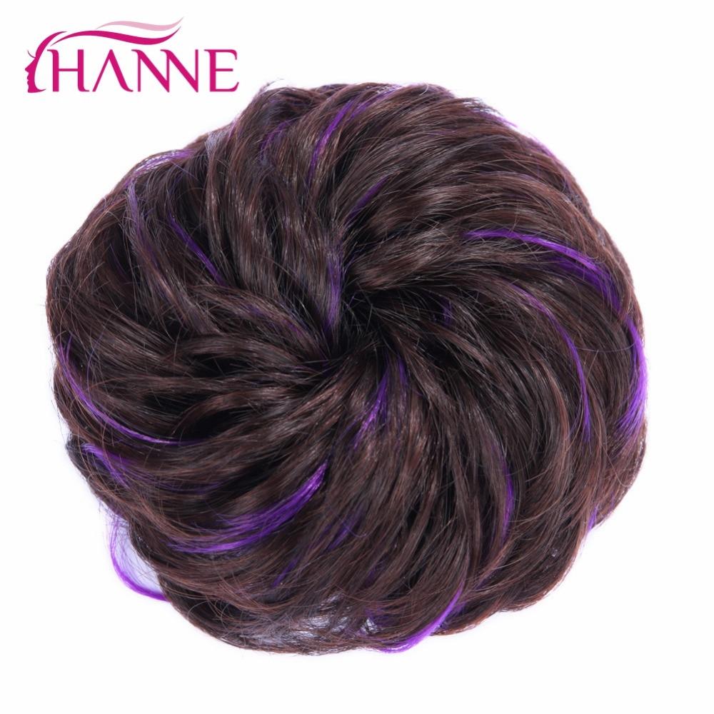 Ханне Для женщин Chignon волос Bun пончик клип в шиньон расширения черный/коричневый/бел ...