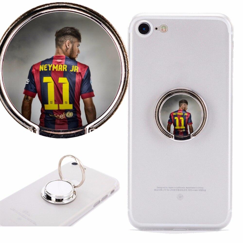 Helpful Neymar Jr Football Phone Holder Stand Mount 360 Degree Rotation