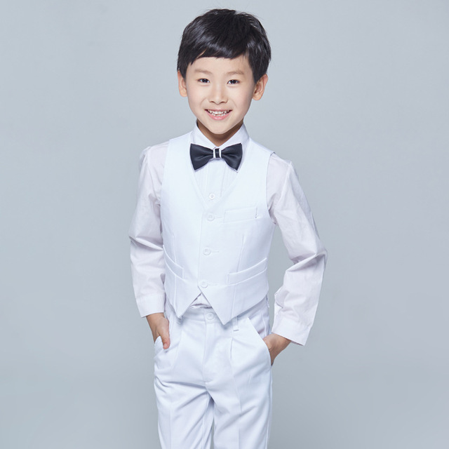 6fd22d1c9b96 CHENLVXIE New 2017 Fashion Summer Beach Boys Wedding With Clothes Handsome  Kids Tuxedo Suits Cute Formal Clothing 4 Piece WE006