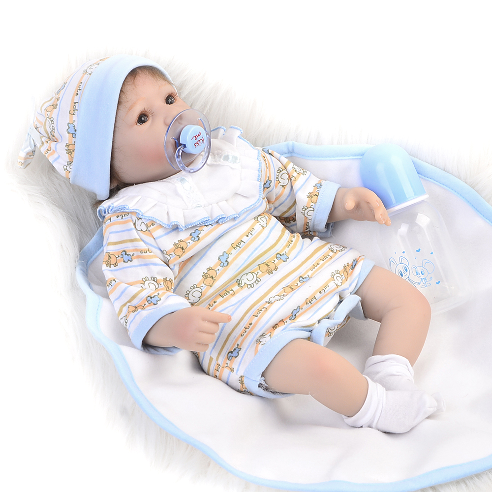 NPK New Born Realistic 16'' Soft Silicone Reborn Baby Dolls Wear Rompers Lifelike Babies Doll Real Like Toddler Kids Playmate npk lifelike 16 soft silicone reborn baby dolls truly pretty girl reborns realistic babies doll wear dress toddler playmate