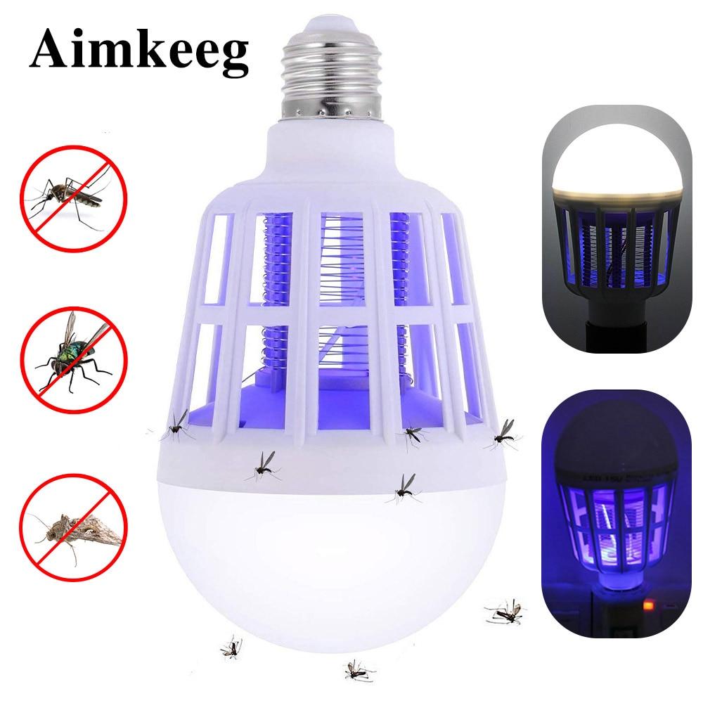 E27 2 In 1 LED Mosquito Killer Lamp Anti Mosquito Killer Indoor Outdoor LED  Anti Insect Bulb Light Bug Killer Lamp 110V 220V