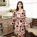 2016 New Fall/Winter Sexy Bathrobe For Women Robe/Gown Sets comfortable casual pajamas homewear Robe Long-sleeved sleepwear