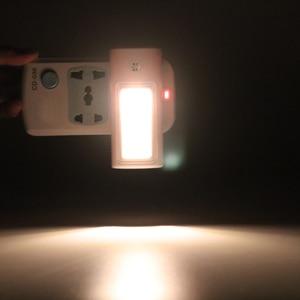 Image 4 - BORUiT Plug in sensörü LED gece lambası sıcak beyaz gece lambası yatak odası için lamba bebek odası sensörü koridor merdiven lambası ab/abd/İngiltere tak