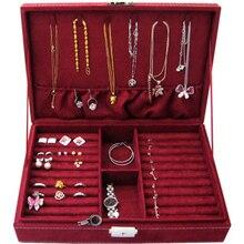 Caja de pendiente del perno prisionero placa Accesorios de la joyería de moda caja de almacenamiento de los pendientes del anillo de bodas regalo de cumpleaños Envío Libre B007