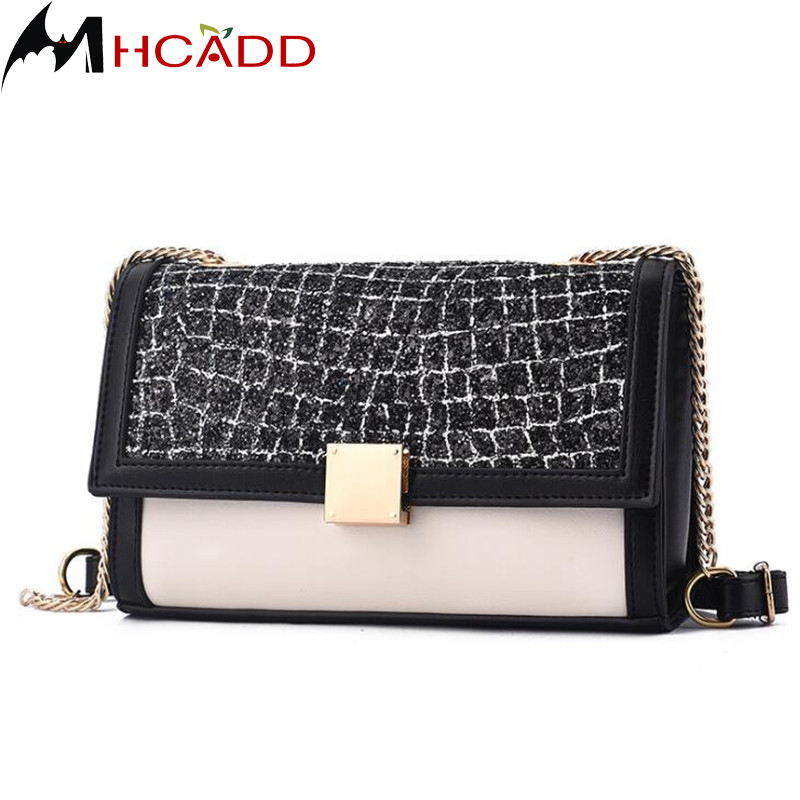 MHCADD Brand Fashion Luxury Alligator Leather Messenger Crossbody Bag Women Chain Bags Mini Small Flap Handbag Purse Shoulder teridiva women bags fashion brand famous designer mini shoulder bag woman chain crossbody bag messenger handbag bolso purse