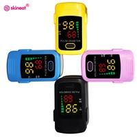 Skineat 4 Color Available Digital Finger Pulse Oximeter Portable Fingertip Blood Oxygen Pulse Oximeter Care For