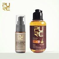 PURC Grow hair fast Hair Growth Essence Oil Liquid Treatment Preventing Hair Loss Hair Care 20ml and Thicken Hair Shampoo
