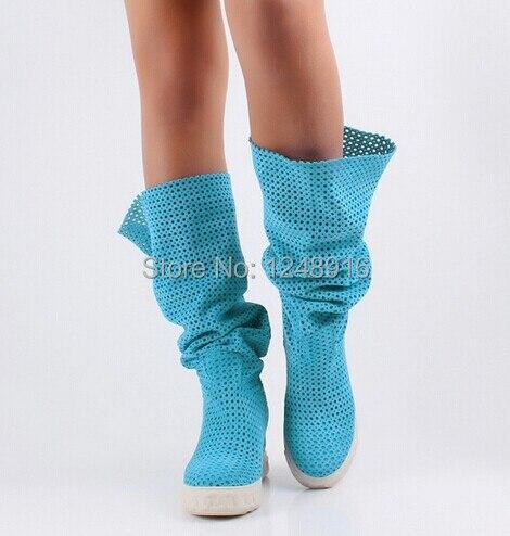 Gamuza De azul azul Rodilla Botas amarillo gris Cuña Sapatos Mujer marrón 2019 Mayor Primavera Mujeres Las otoño Zapatos La Femininos Cielo Corte Altura Negro S7q7vUI8H