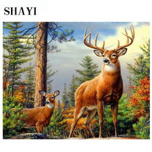 Diamond Painting Diy Forest Deer Home Decoration Embroidery LUOVIZEM L083