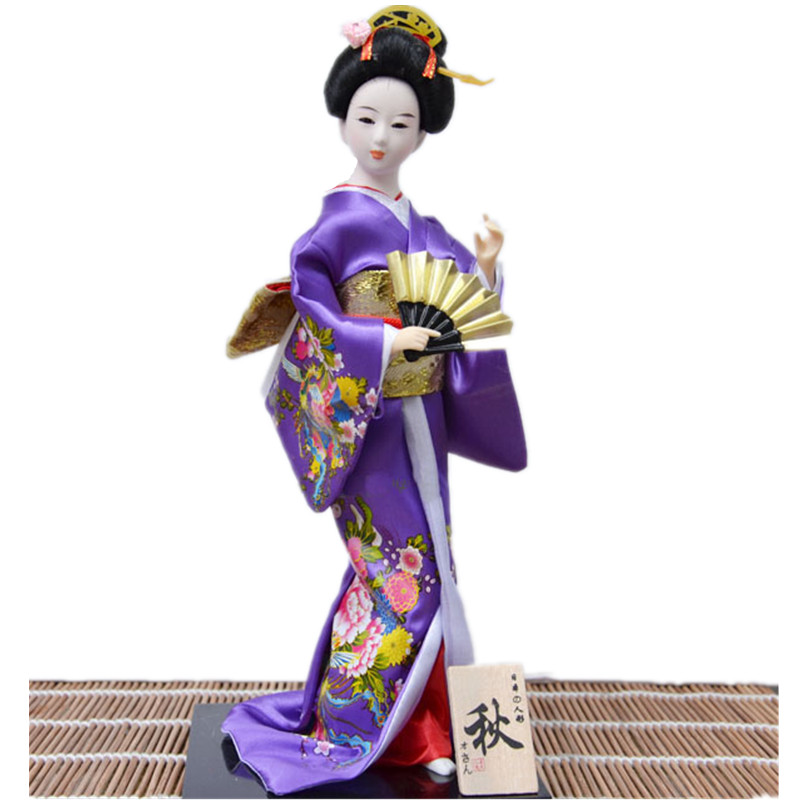 Belo Hand-made kimono Japão Gueixa escultura artesanato Enfeites para casa deocration de Natal ano Novo presentes Criativos