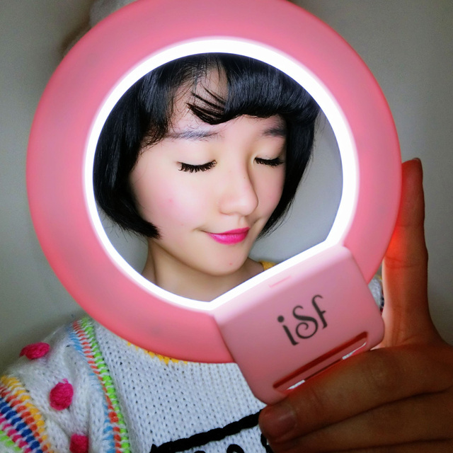 Ulanzi Youtube Live Streaming Light Charming Eyes Selfie Ring Flash LED Light for iPhone 6 6s Plus for ISO Android Smartphones