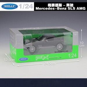 Image 4 - WELLY 1:24 จำลอง Benz SLS AMG กีฬารถยนต์ Diecast โลหะผสมรุ่นคลาสสิกของเล่นของเล่นสำหรับของขวัญเด็กคอลเลกชัน