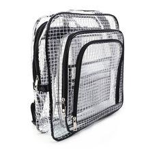 Unisex Anti-static Clear Backpack Travel Shoulder Bags PVC Rucksack Engineer Tools Bag