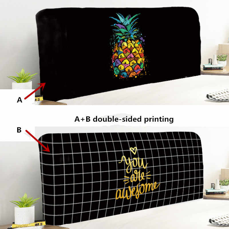 Fashion Style Double-sided Printing Elastic Cloth Dust-proof Bed Head Cover/Backrest Cover/ Fully enclosed Protective Cover