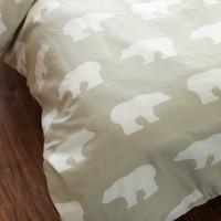 100% хлопок саржа мультфильма полярный медведь печати удобные постельных принадлежностей постельное белье King Size одеяло пододеяльник просты
