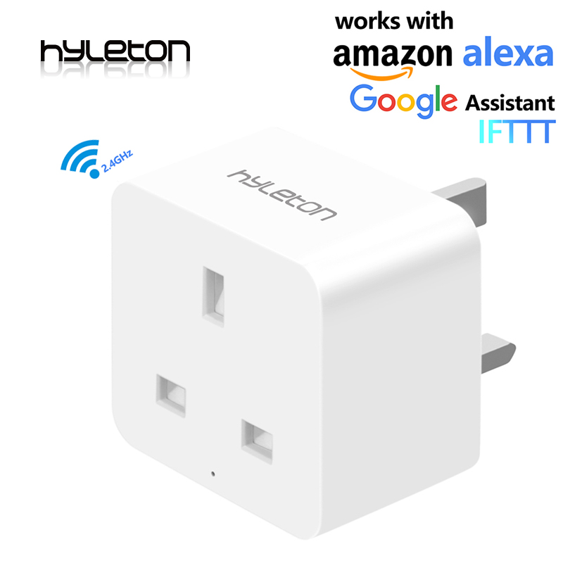 Hyleton wifi smart plug remote control outlet Wireless Wall Socket Compatible with Alexa Google Home for Household Appliances wall socket home security alexa compatible surge protection zigbee home automation solution smart metering plug