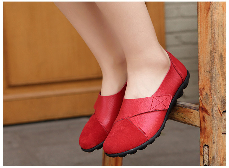 AH 1987-2019 Spring Autumn Women's Shoes Genuine Leather Woman Loafers-17