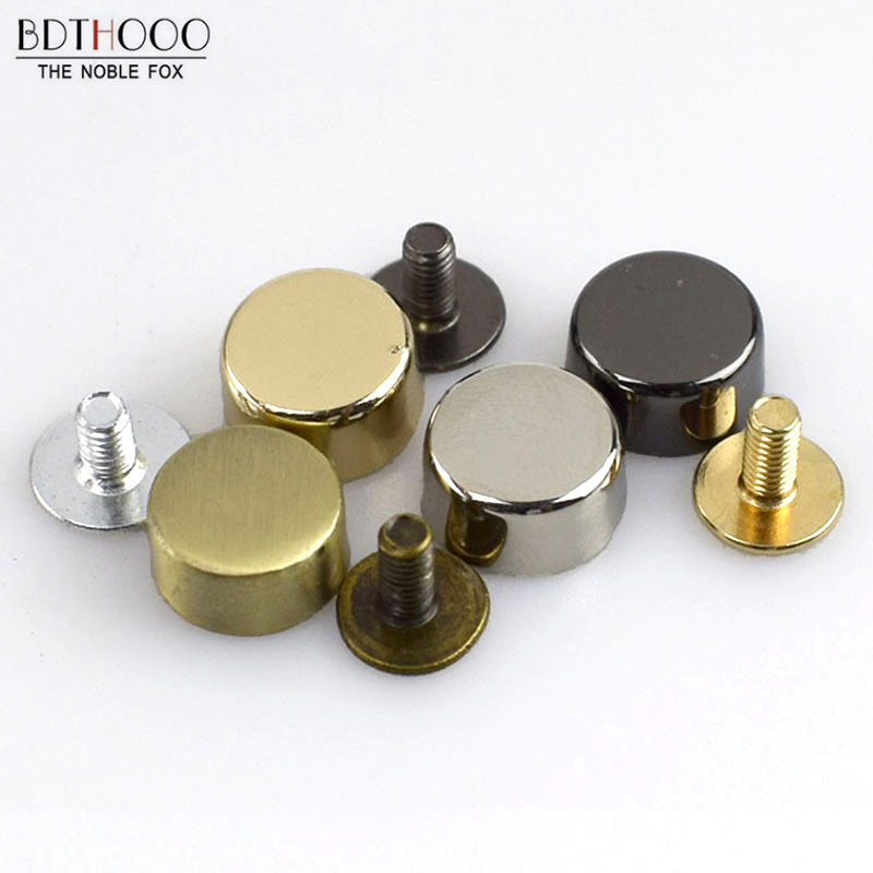 Luggage & Bags 50pcs Feet Bag Bottom Studs Rivets For Leather Buttons Screw For Shoes Bag Clothes Hardware Belt Accessories For Bags Feet Screw