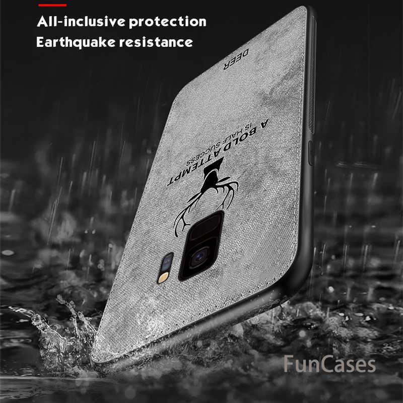 Мягкий полиуретановый край из плотной ткани с тиснением Олень чехол для телефона для samsung Galaxy J4 J6 плюс 2018 J7 J5 J3 Pro для samsung Note 8 9 S9 S8 плюс