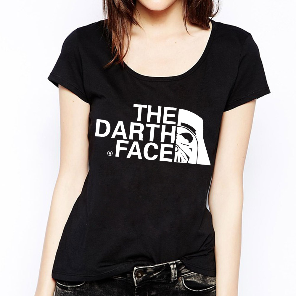 e4db38566d Free Shipping Star Wars Womens Tees The Darth Face T Shirts Women Cotton  Short Sleeve Woman Tops