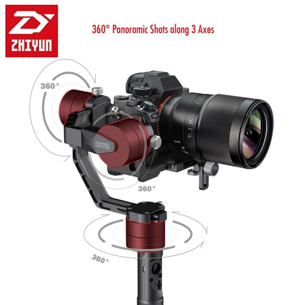 Newest ZHIYUN zhi yun Crane 3-Axis Camera Stabilizer Gimbals Handheld Professional DSLR Stabilizers For Canon SONY  Load 1.8kg professional dv camera crane jib 3m 6m 19 ft square for video camera filming with 2 axis motorized head