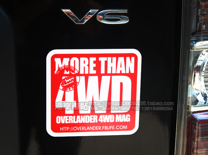 High quality For more than 4wd car Reflective sticker and de