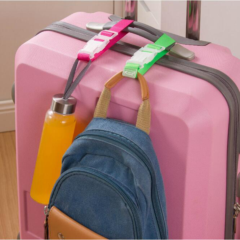 Button Buckle Adjustable Security Portable Bag Parts Suitcase Bag Hanger Luggage Strap Belt Aircraft Travel Accessories Supplies