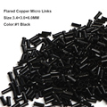 Copper Micro Beads 3.4*3.0*6.0MM 1000Pcs/Bottle #1 Black Micro Tube Copper Micro Rings 1000 Microlink Hair Extensions