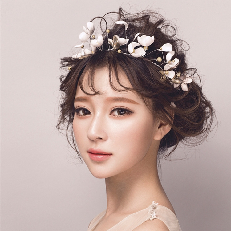Korean Wedding Bride Hair Ornaments Crown Flower Party Jewelry Accessories Headband In From On