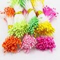 520pcs/lot Multicolor Double Tips 1mm Pearl Flower Stamen Cake Decoration 11010108(520)