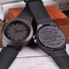 Customized Wood Engraving Men Watch