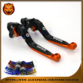 Adjustable Folding Extendable Brake Clutch Lever For KTM 690 ENDURO/R  2014 15 2016 Orange WITH LOGO Free shipping Motorcycle
