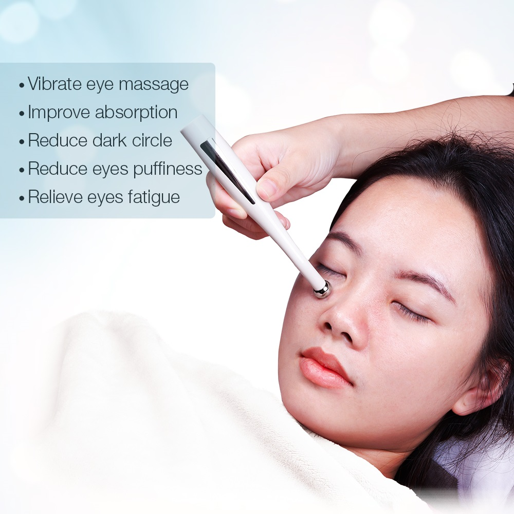 Image 5 - 2 in 1 Electric Eye Massager Anti Aging Wrinkle Eye Patch Relief Micro current Massage Negative Ion Importing Eyes Care Device-in Face Skin Care Tools from Beauty & Health