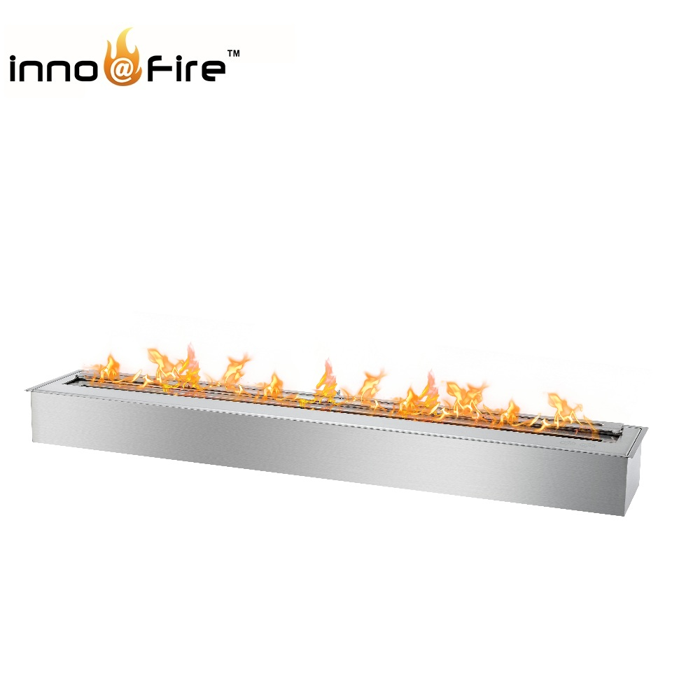 Inno-living 48 Inch Stainless Steel Manual Ethanol Fireplace Burners