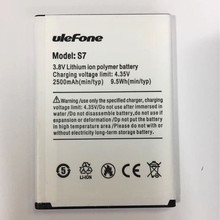 100% Original Ulefone S7 Battery 2500mAh For 5.0inch ulefone s7 Smart Phone with Tracking Number цена и фото