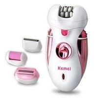 Kemei 110 240V Pedicure Machine Lady Facial Hair Removal Bikini Shaver Electric Epilator Leg Foot Care
