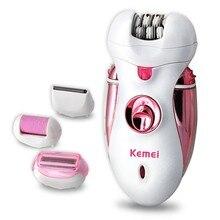 Kemei 110-240 V Máquina de Pedicura Señora Facial depilación bikini afeitadora Eléctrica Depiladora cuidado del pie de la pierna para las mujeres herramienta del cuidado del cuerpo