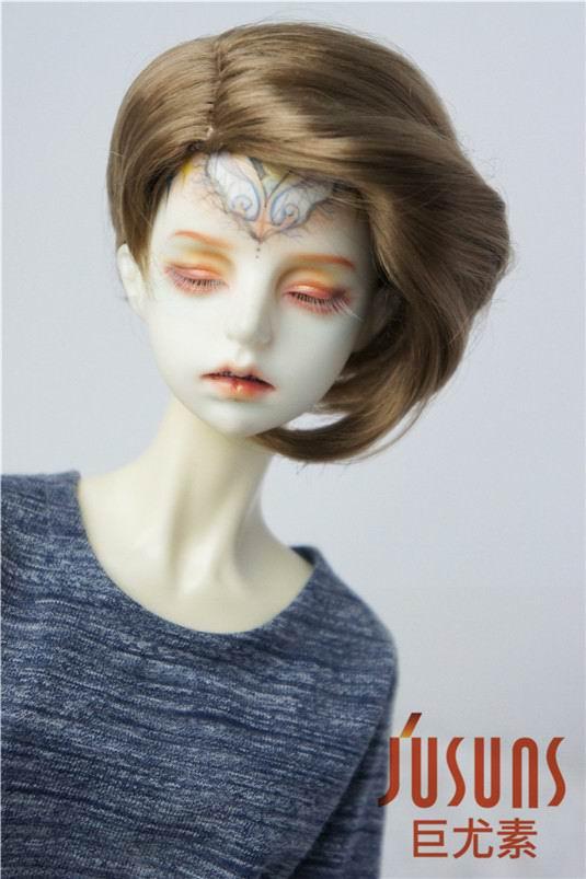 JD342 1/3 New Arrival Popular Short Cut Synthetic Mohair BJD Doll Wigs 8-9inch High Quality Doll Hair Doll Accessories 1 3 1 4 1 6 1 8 1 12 bjd wigs fashion light gray fur wig bjd sd short wig for diy dollfie