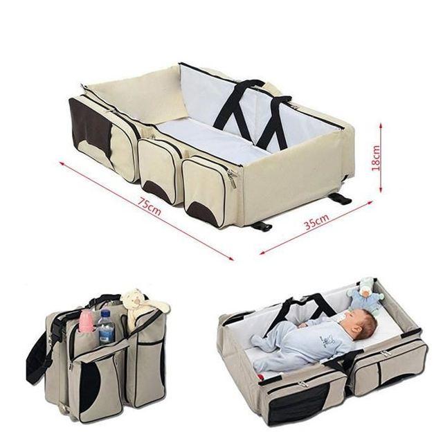 Nuevo Multi-función de cama cuna para los recién nacidos de gran capacidad bebé cambiando pañales momia paquete bolsa FR HWC 4