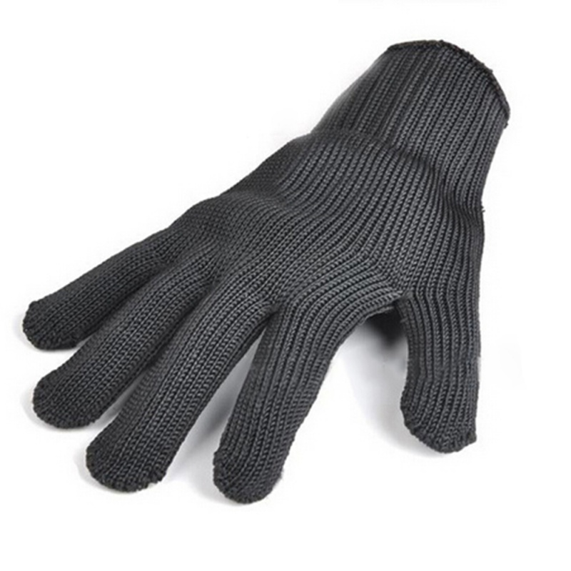 Men Gloves Steel Wire Fishing Fillet Gloves Cut Resistant Thread Weave Tool Gloves