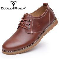 CUDDLYIIPANDA 2018 New Genuine Leather Men Shoes Man S Flat Causal Fashion Men S Business Dress