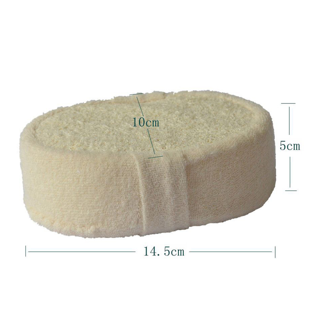Natural Loofah Sponge Bath Ball Shower Rub Bath Shower Wash Body Pot Sponge Scrubber Durable Healthy Massage Brush 5