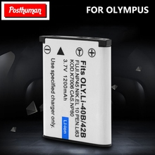 POSTHUMAN Camera Battery for Olympus Leise D-Li63 Fuji NP45 Nikon EN-EL10 3.7V 1.2Ah Li-40B Li-42B Li 40B 42B Li40B Rechargeable цена и фото