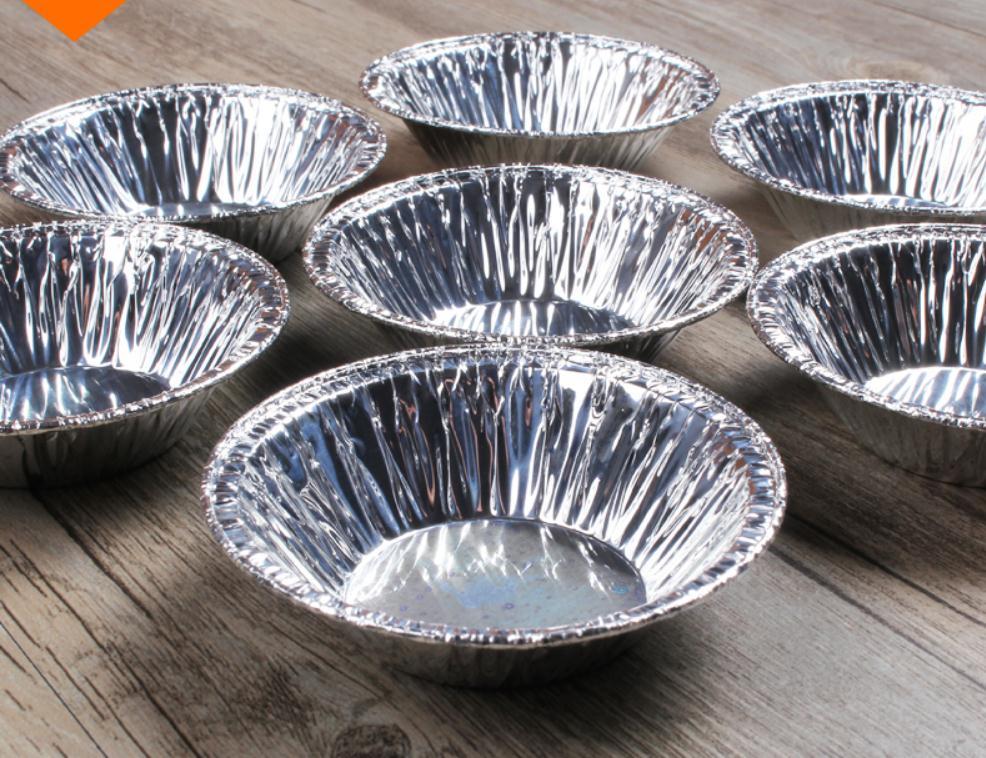50/100pcs Disposable Baking Tinfoil Small Bowl,high Temperature Metal Bowl, Cake Egg Tart Aluminum Foil Tray.