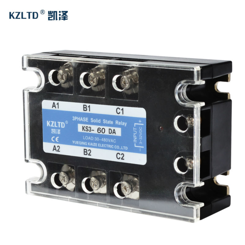 TSR 60DA 3 Phase Solid State Relay 60A 3 32V DC to 30 480V AC