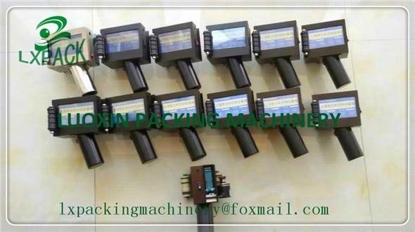 LX-PACK最低工場価格のハンドヘルド印刷の木製ケースチューブボトルコーディングマシンエコ溶剤プリンターバーコードコーディング