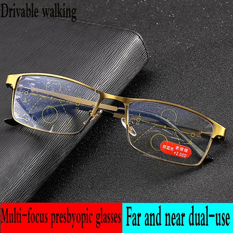 2c85c5ccc0 Bifocales gafas de lectura progresiva Grey lente hombres y mujeres la  presbicia gafas de pesca al