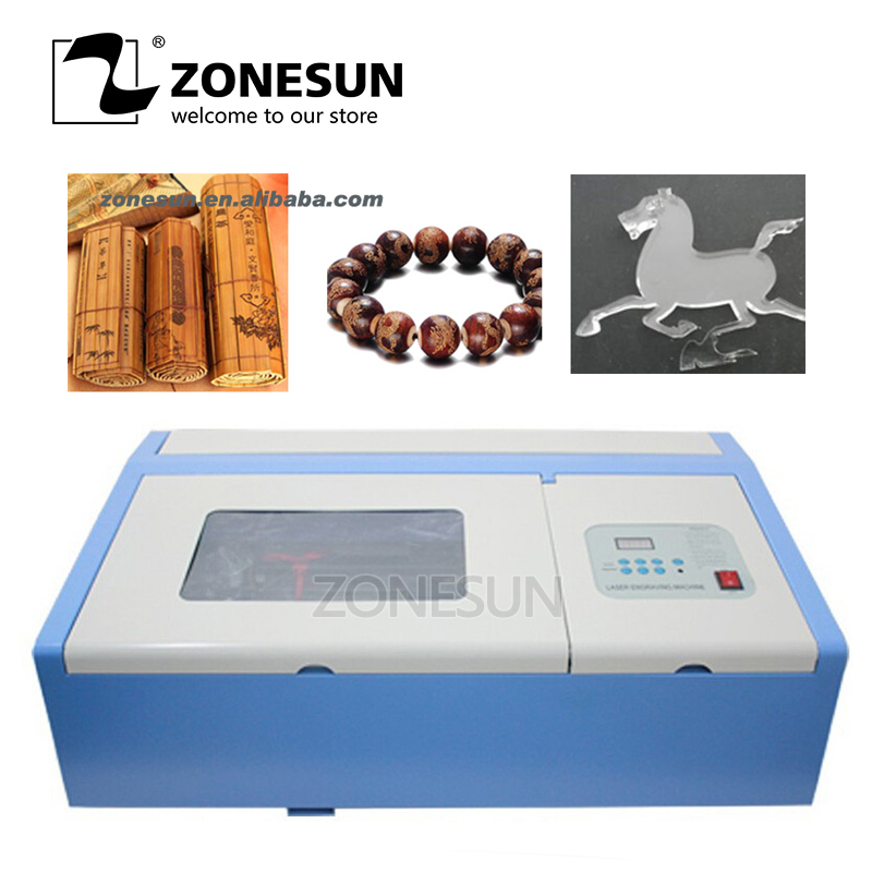 ZONESUN Laser Engraver Cutting Machine 110/220V 40W 200*300mm Mini CO2 3020 Laser for art gift Garment Leather Toy co2 laser machine with usb sport 110 220v 40w 300 200mm mini co2 laser engraver engraving cutting machine 3020 laser